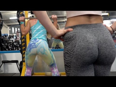 SUPER SICK! 3 bubble-butt fitness hotties go crazy SWEATY in gym full of PERVS!