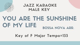 You are the sunshine of my life [sing along background JAZZ KARAOKE music] for the male singers