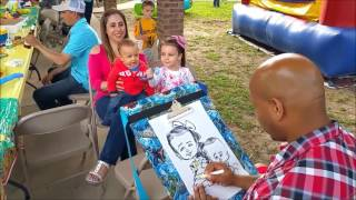 Live Caricatures of Kids at a Party