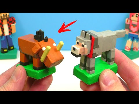 Making HOGLIN And WOLF In Minecraft With Clay