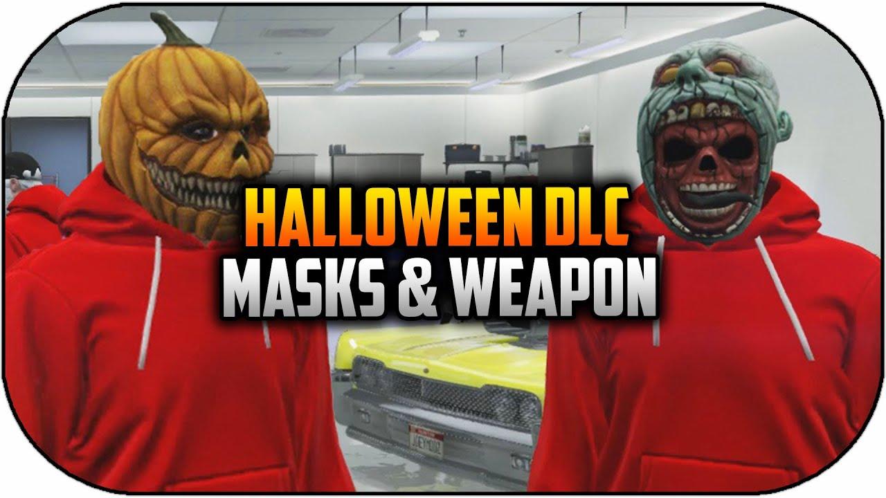 GTA 5 Halloween DLC Masks & Weapons Gameplay! Early Halloween on ...