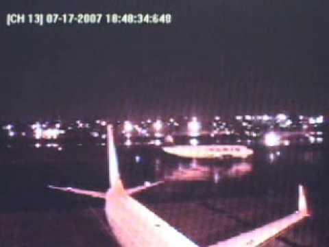 Acidente da TAM JJ 3054 Airbus - Cameras da pista Congonhas