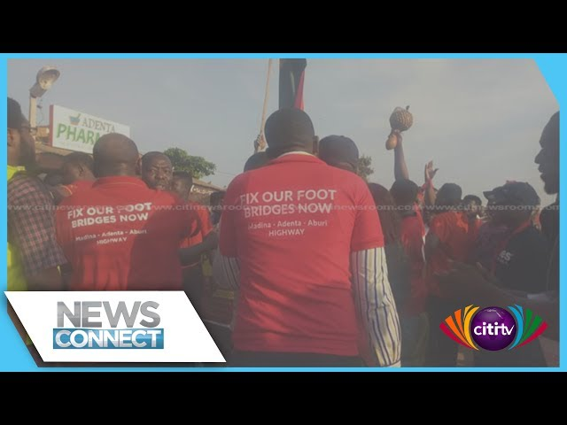 Adenta residents continue protests for footbridges