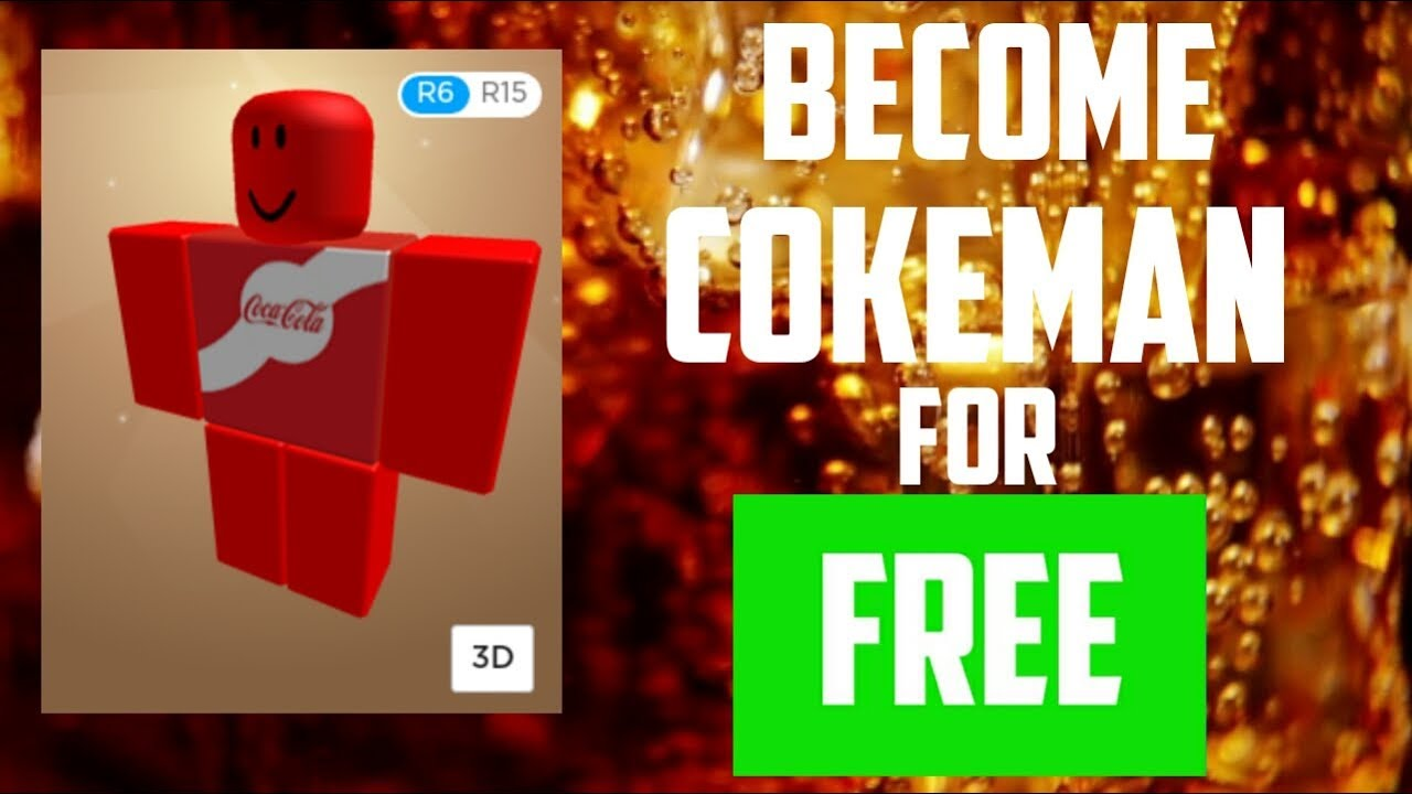 Coca Cola T Shirt Roblox How To Be Cokeman In Roblox For Free Android Ios Laptop Pc Youtube