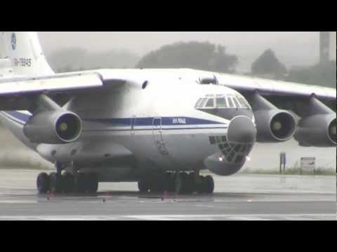Russian Air Force Ilyushin IL-76 Screaming Loud Departure from Boston Logan!!