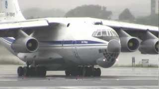 Russian Air Force Ilyushin IL-76 Screaming Loud Departure from Boston Logan!!