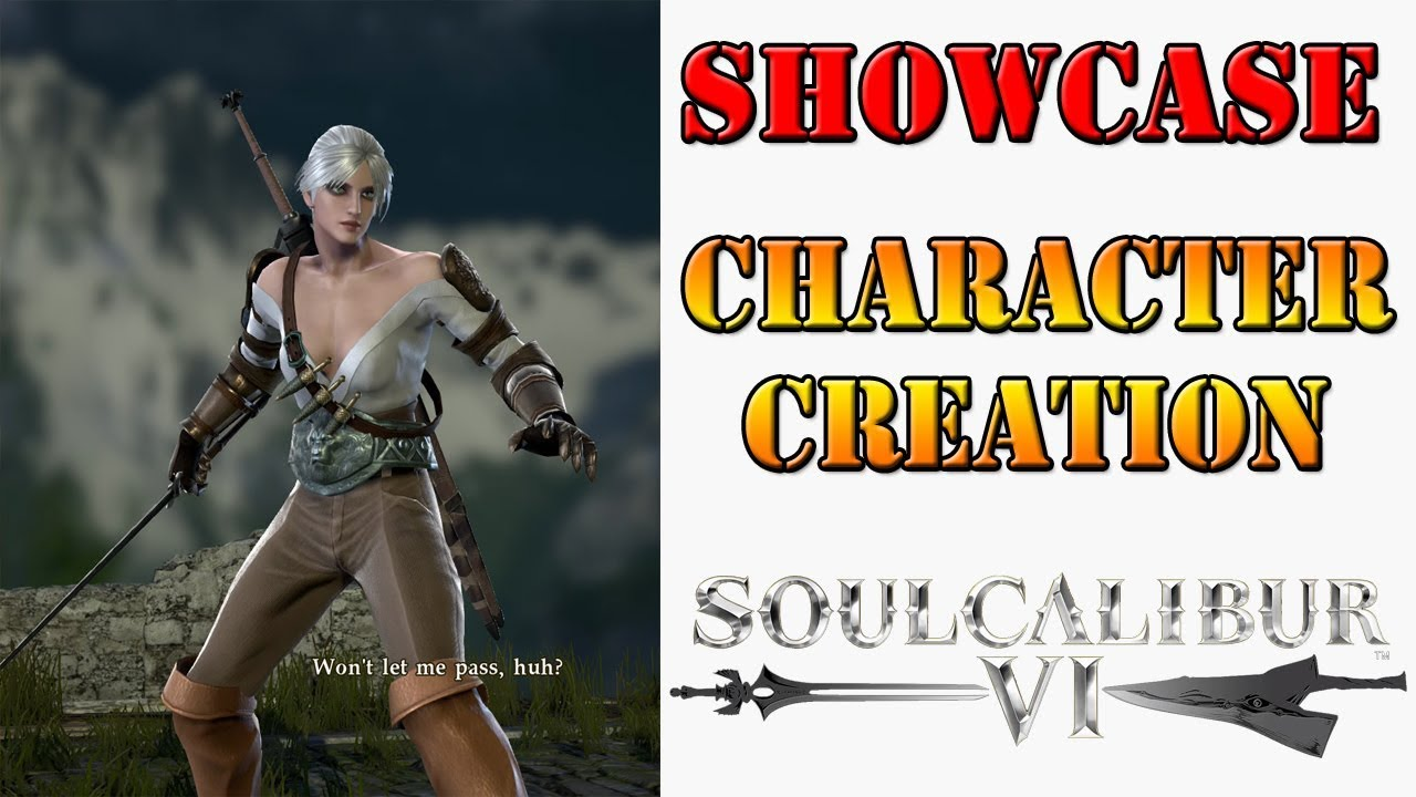 SoulCalibur VI - Character Creation showcase! Ciri, Undertale, and more!