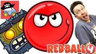 🔴 НОВЫЙ Красный Шарик мультик #5 Подземные Ходы канал Жестянка Прохождение игры Red Ball 4