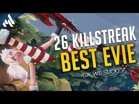 Paladins | Evie 26/0 Kill Streak - Funny Moments!