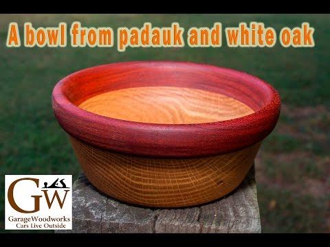 Padauk and Oak Bowl