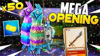Fortnite: Opening of x50 Birthday Lamas Year 2 with My Brother (Opening Saving the World)
