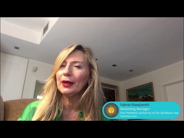MedCruise member Valeria Mangiarotti, Marketing Manager at Sardinian Ports