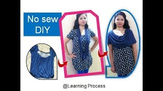 No sew infinity scarf, poncho, bolero from t-shirt | Learning Process
