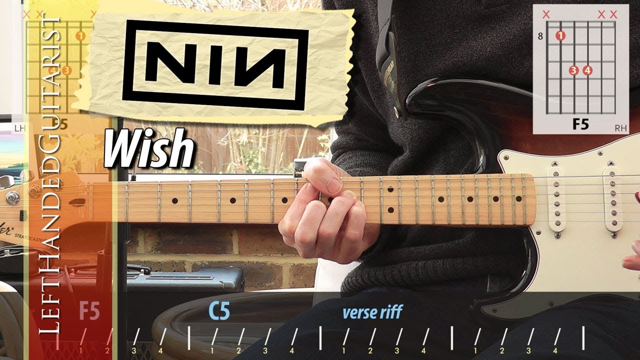 Nine Inch Nails - Wish | guitar lesson - YouTube
