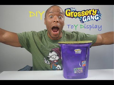 DIY Grossery Gang Display Case | Toy Trash Can Stand