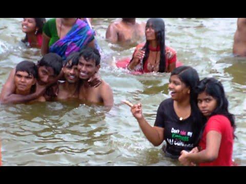 Telangana Krishna Pushkaralu, Beechupally, Rangapur Ghats, India HD Video!