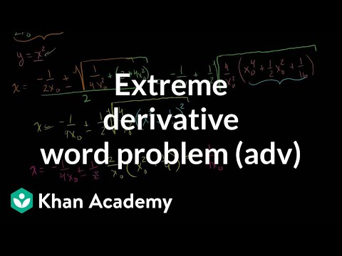 Extreme derivative word problem (advanced) | Differential Calculus | Khan Academy