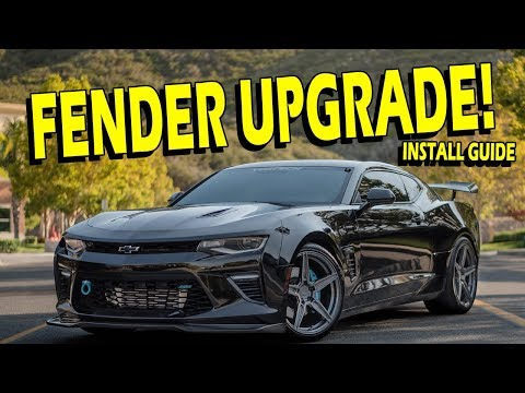Fender Inserts Install Guide - 6th Gen Camaro 2016-2018 - ACS Composites