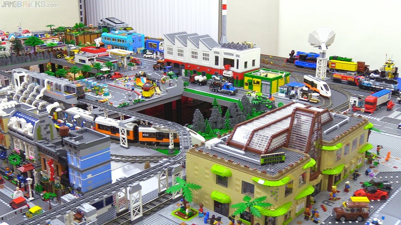 Minor Lego City Update Mall Plazas More Sidewalks Youtube