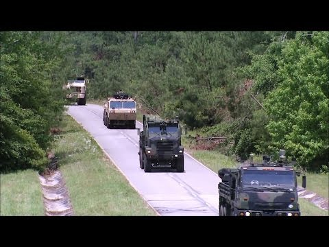 TARDEC - AMAS CAD Automated Truck Convoy 2nd Demonstration [1080p]