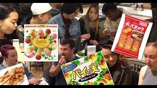 カナダのショッピングモールで日本のお菓子を実食してもらったらforeigners try Japanese candy