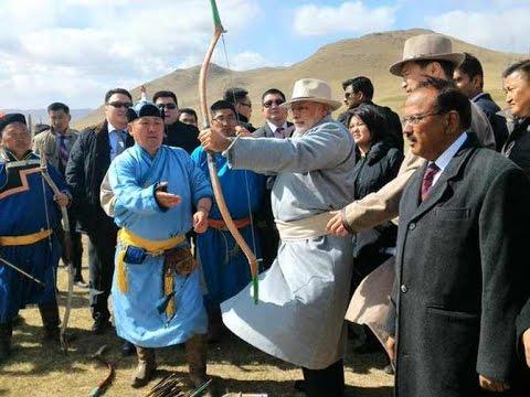 Narendra Modi attends Mini Naadam Festival, Mongolia