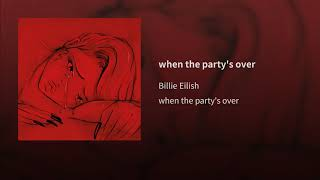 Billie Eilish - when the party's over (Bass Boosted)