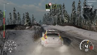 WRC 8 on Nintendo Switch - Ford Fiesta R5 at Rally Sweden Gameplay