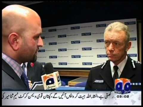 Exclusive Scotland Yard Commissioner Bernard Hogan Howe interview by Murtaza Ali Shah