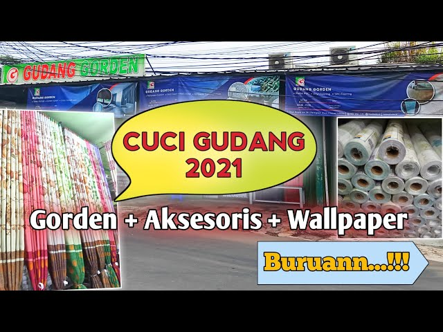 SALE CUCI GUDANG GORDEN 27 APRIL - 11 MEI 2021 | OBRAL GORDEN, AKSESORIS, WALLPAPER
