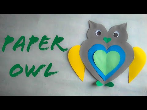 Easy And Simple Paper Owl | Paper Owl Crafts For Kids | The Best Crafts