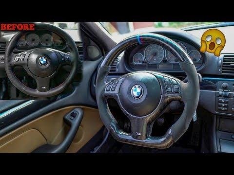 BEST BMW STEERING WHEEL UPGRADE! FULLY CUSTOMIZED M Wheel!