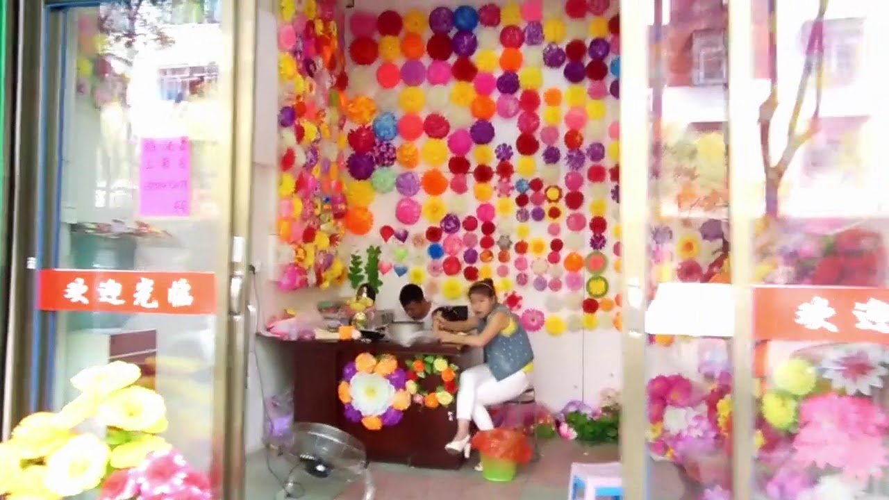 Artificial Flowers Factories District Market In Yiwu China Youtube