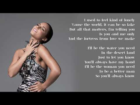Alicia Keys - 06. That's How Strong My Love Is (Lyrics)