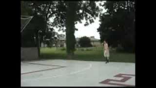 Rebounding machine for back yard basketball