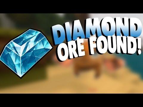 Creativerse Gameplay   DIAMOND ORE FOUND! AND IRON!   Lets Play Creativerse Gameplay