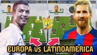 EUROPA vs LATINOAMERICA TEAM ... Quien es Mejor? - FIFA 17 Modo Carrera