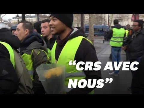 """""""CRS avec nous"""": comment des gilets jaunes ont tenté de rallier les policiers"""