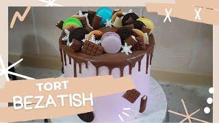 Как украсить торт Декор торта Tort bezatish Tort tekislash
