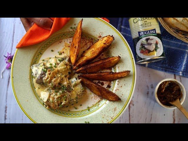 Filet de Caballa con salsa de limon y papas rusticas - Momentos Puglisi