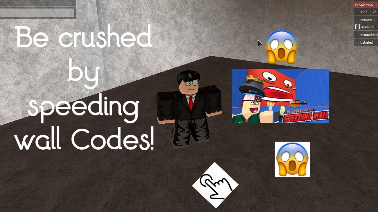 Be Crushed By The Speeding Wall Codes January 2020 New Video In