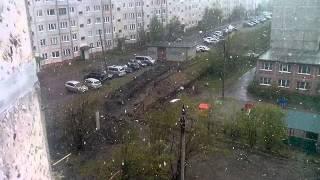 Мурманская обл, Кировск, снег 20.06.2014(, 2014-06-20T17:12:12.000Z)