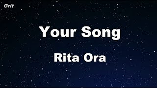 Video Your Song - Rita Ora Karaoke 【With Guide Melody】 Instrumental download MP3, 3GP, MP4, WEBM, AVI, FLV Desember 2017