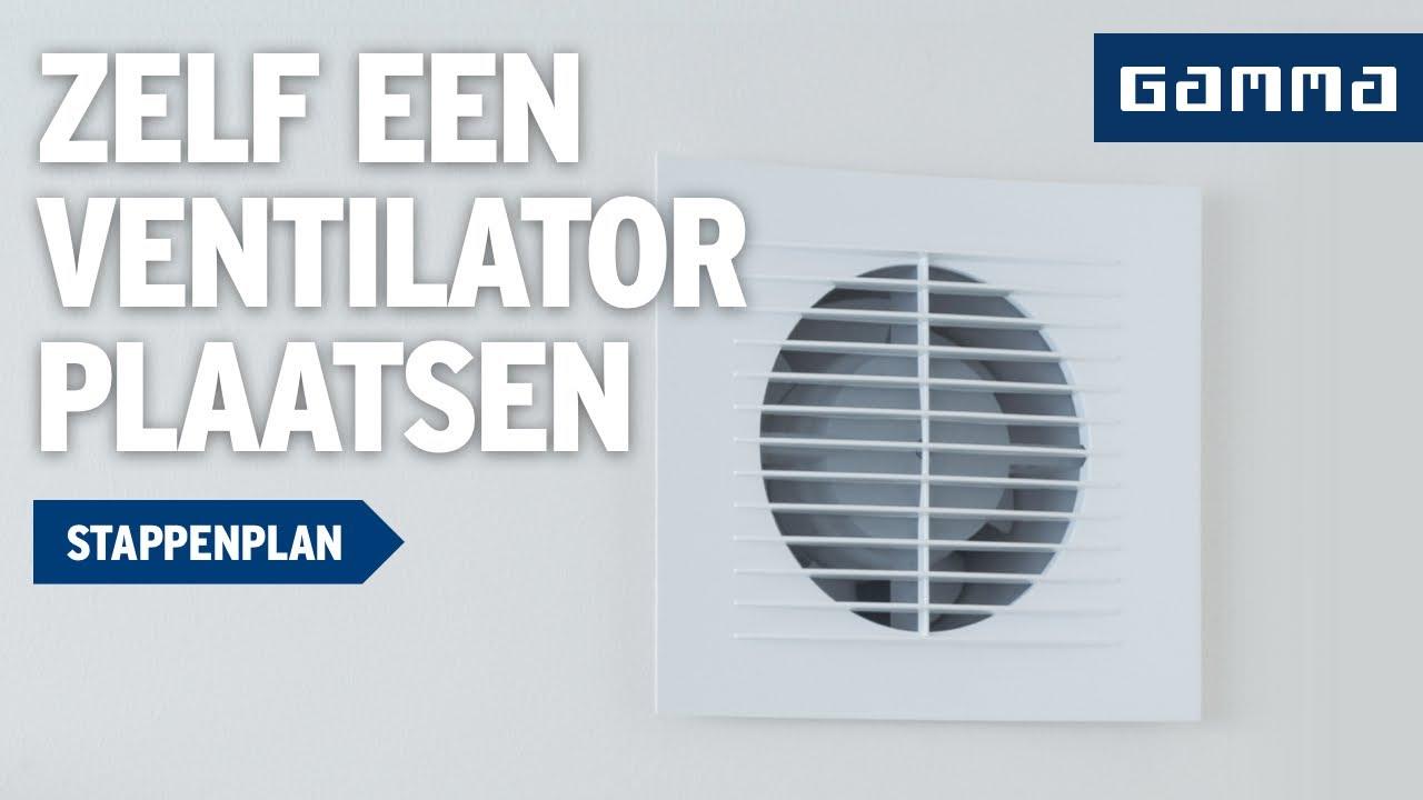 Ventilator plaatsen in badkamer - Klustips | GAMMA België - YouTube
