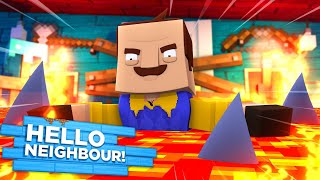 Minecraft Hello Neighbor - THE NEIGHBOR HAS LAVA SHARKS TRAPPED IN HIS BASEMENT