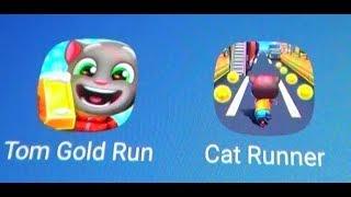 Talking Tom Gold Run Vs Cat Runner