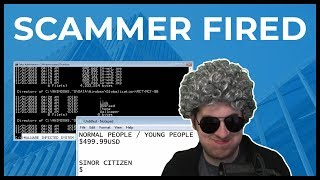 "Tech Scammer ""Fired"" By His Manager"