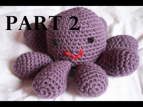Crochet Amigurumi Octopus Tutorial : Amigurumi Octopus Crochet Tutorial Part 2 - YouTube