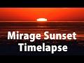 Amazing mirage sunset timelapse over lake erie.
