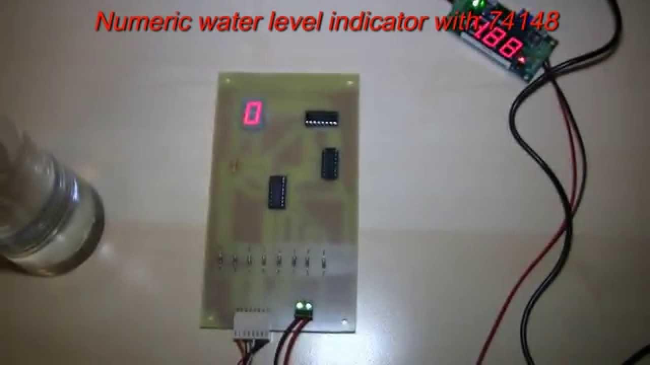 Numeric Water Level Indicator With Ic 74148 Youtube